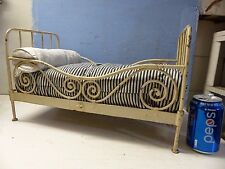 WONDERFUL OLD VICTORIAN DOLLS FANCY METAL BED - EXTREMELY RARE - L@@K