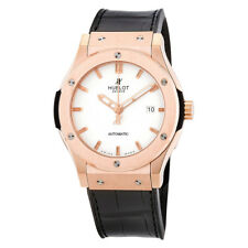 Hublot Classic Fusion White Dial Black Leather Automatic Mens Watch 542OX2610LR