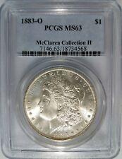 1883 O Silver Morgan Dollar PCGS MS 63 McClaren Collection Pedigree Hoard Coin