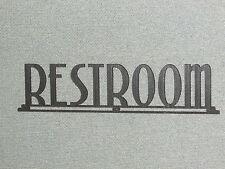 "RESTROOM ART DECO STYLE WOODEN 16"" SIGN"