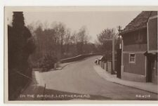 Surrey, Leatherhead, On The Bridge Real Photo Postcard, B073