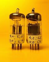 RFT ECC85 Matched Pair / 6AQ8 Audio Double Triode Vacuum Tubes Germany