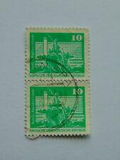 DDR Senkrechtes Paar Freimarken Kleinformat 10 Pfennig(.) 1973 Mi 1868v/1868v