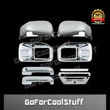 15-16 FORD F150 Fog Light 2 Mirror 2 Door Handle 1 Tailgate W/Came Chrome Cover