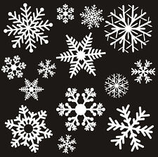 26 REUSABLE LARGE CHRISTMAS SNOWFLAKE WINDOW STICKERS DECORATIONS ON SELF CLING