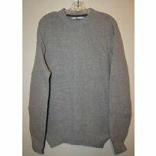 Men's Light Gray Cotton Acrylic Polyester Sweater by Geoffrey Beene Size Medium