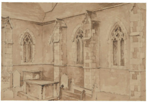 Old Master Drawing of Building