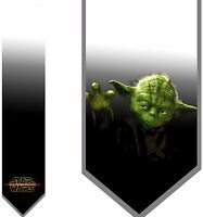 L@@K! Star Wars Master Yoda satin Necktie - Vader The Force Luke Skywalker Jedi