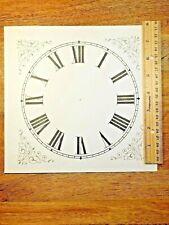 "7 3/8""  Square Paper Clock Dial         (Lot 203)"