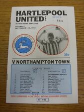 11/09/1982 Hartlepool UNITED V Northampton Town. Any faults With This item Hav