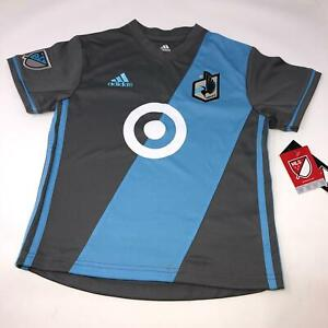 Minnesota United FC Official MLS Adidas Athletic Jersey Youth Size 7 Large