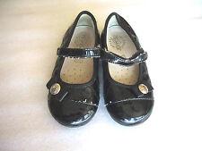 Girls Toddler Primigi Mary Jane Shoes Size 24 Black Leather Sky Effect Hearts