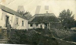 altes Foto 1. Weltkrieg vor der Unterkunft 1917, 9x13cm