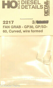 Detail Associates- #2217 Fan Grab Iron (GP30, GP/SD-60 Curved, Wire Formed) 3pcs