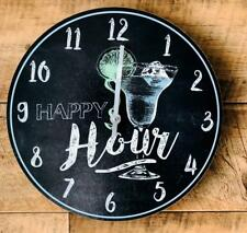 Happy Hour Colourful Margarita Cocktail Clock  CK0017-BL