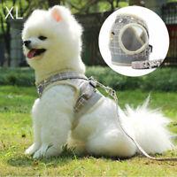 Mesh Reflective Pet Dog Harness Leash Set Soft XS-XL Puppy Cat Vest Harness