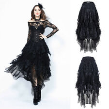 Dark in Love KW106 Elegant Gothic Victorian Steampunk Mesh Lace Long Puffy Skirt