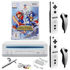 Nintendo Wii Konsole Mario & Sonic Olympischen Spiel 2x Remote 2x Nunchuk Neu