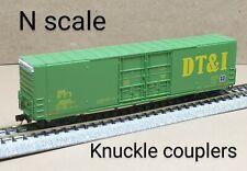 DT&I 60 auto parts box car N scale Micro Trains MTL green Detroit Toledo Ironton