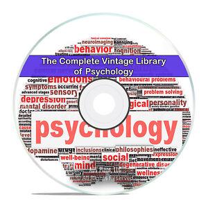 203 Classic Psychology Books, Study Behavior Psychological Freud CD DVD H79