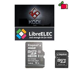 KODI (XBMC) preinstallato 16 Gb CLASSE 10 scheda SD per Raspberry Pi A, B, B +, Zero