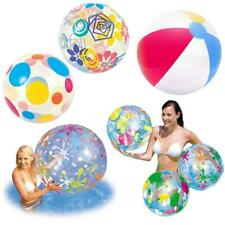 "NEW INFLATABLE BEACH BALL 16"" 20"" 24"" 48"" SWIM POOL BEACH PARTY HOLIDAY GARDEN"