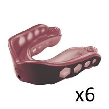 6 Shock Doctor Gel Max Mouthguards Adult 11+ Maroon Strap/Strapless Protection