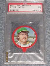 1973 Topps Candy Lids Baseball Catfish Hunter PSA 5 EX Only 3 Better
