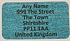 260 x Mini Blue Denim effect Personalised Name & Address Sticky Labels Stickers
