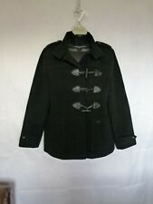 Lacoste Women's Jacket Coat Black Wool Blend Toggle Buttons Size 46