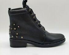 Gabor Schnürstiefelette Boots in Leder mit Nieten Schwarz EU 39 / UK 6 NEW