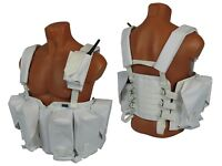 Russian Vest military army paintball white airsoft chest rig molle winter