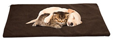 36x24in Large Self Warming Thermal Insulated Pet Cat Dog Crate Pad Mat Chocolate