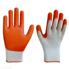 SafePro Red Latex Palm-Coated Cotton Gloves, 10 Pairs per Pack
