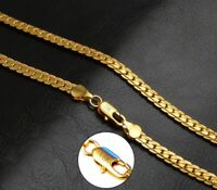"18k Yellow Gold 24"" Men's Women's Opulent Curb Link Chain Necklace wGiftPg D680A"