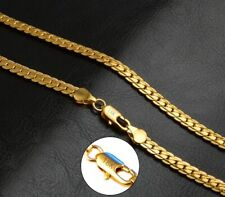 """18k Yellow Gold 24"""" Men's Women's Opulent Curb Link Chain Necklace Wgiftpg D680a"""