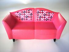 Barbie Furniture Couch Dark Pink Modern Shape & Legs