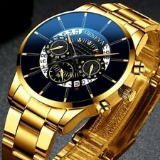 2020 Fashion Mens Watch Quartz Classic Black Wristwatch Steel Belt Luxury...