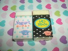 Rare Vintage 1980s Japanese Hinodewashi Yogurt Block erasers rubbers gommes
