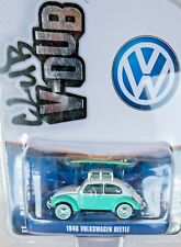 GREENLIGHT 1946 VOLKSWAGEN BEETLE WITH SURFBOAD 1/64 SCALE LIMITED EDITION NEW!