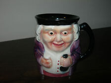 VINTAGE SHORTER POTTERY STAFFORDSHIRE ENGLAND TOBY JUG CUP MUG HAND PAINTED