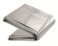 LIGHTWEIGHT REFLECTIVE FOIL Survival Blanket Camping WINDPROOF WATERPROOF SILVER