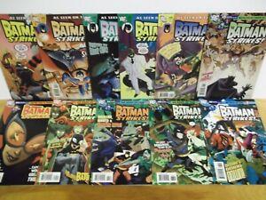 Batman Strikes lot of 11 DC Comics cartoon network 1st series low print