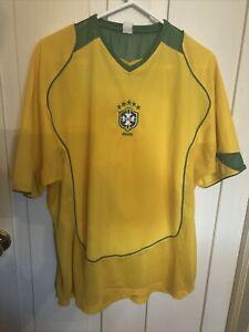 CBF Brasil Ronaldo Soccer Football #9 Jersey - XL - Yellow