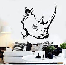 Wall Stickers Vinyl Decal Animal Tribal Rhino Aggression Predator Decor  ig031