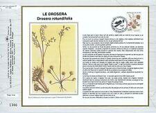 FEUILLET CEF / DOCUMENT PHILATELIQUE / LE DROSERA 1992 NANTES