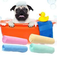 Pet Dog Cat Bath Drying Towel Cleaning Deerskin Ultra-Absorbent Car Towel