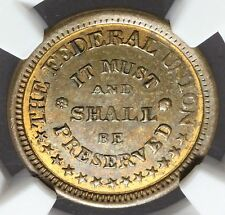 1861-65 The Federal Union Army & Navy Civil War Token F-225/327a - NGC MS 62 RB