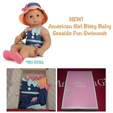 American Girl Bitty Baby Twin Seaside Fun Swimsuit Summer Outfit Sandals Hat
