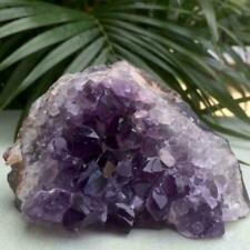 Natural Amethyst Quartz Geode Druzy Crystal Cluster Specimen 2019 Healing J9O7